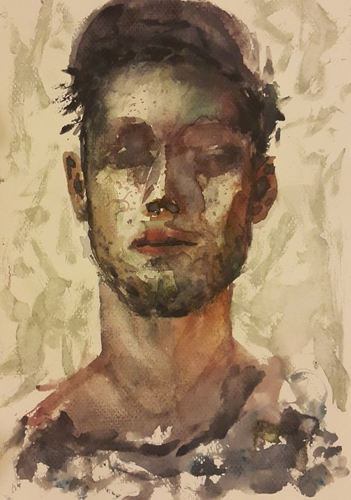 Watercolor Portrait 3 - Maroo Art