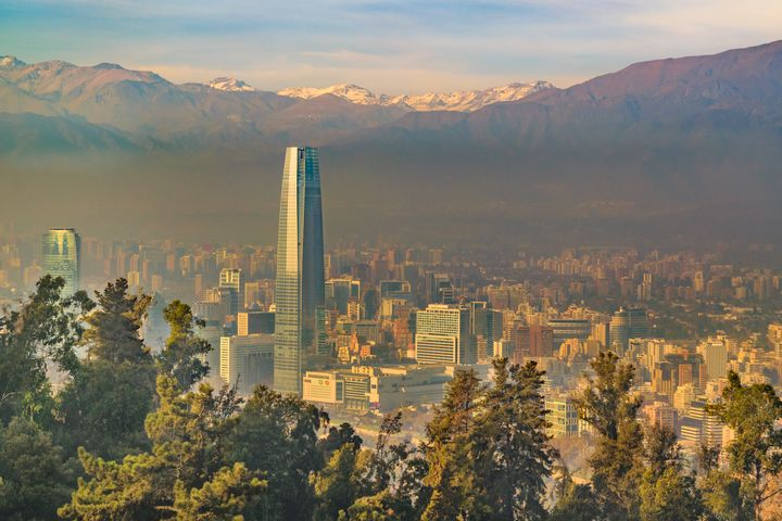 Santiago de Chile Aerial View from S - Photography