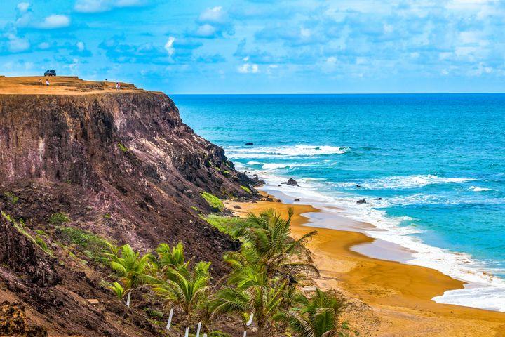 Aerial Seascape Scene Pipa Brazil - Photography