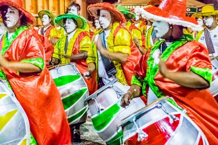Group of Candombe Drummers at Carniv - Photography