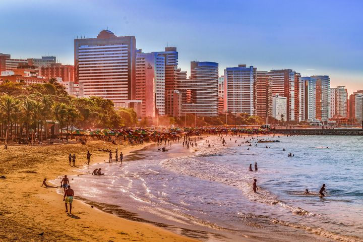 Beach and Buildings of Fortaleza Bra - Photography