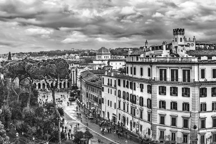 Rome Aerial Cityscape View From Camp - Photography