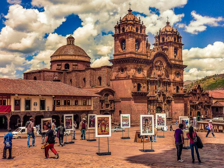 Plaza de Armas in Cusco Peru. - Photography