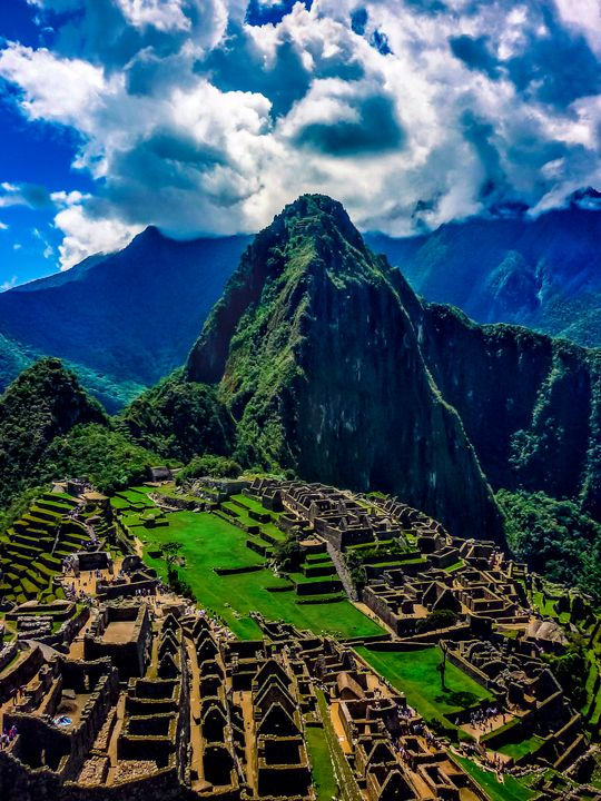 Machu Picchu City Aerial View - Photography