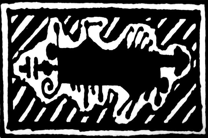 Prehistoric Style Symbol Artwork - Photography