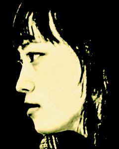 Pop Art Style Asian Woman Portrait