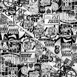 Black and White Urban Collage Print