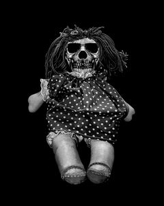 Skull Doll Isolated Artwork