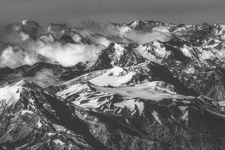 Andes Mountains Aerial View, Chile - Photography