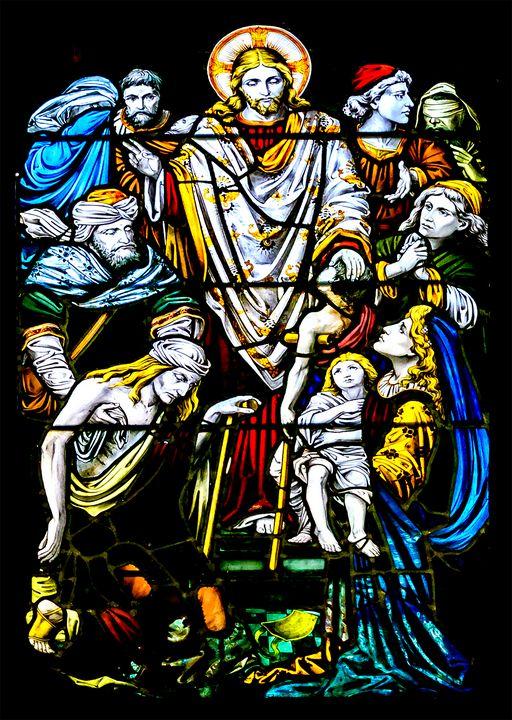 Christian Window Glass Artwork - Photography