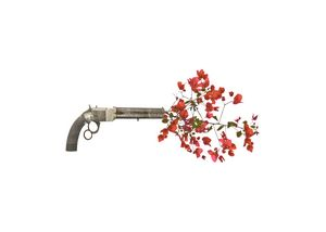 Gun Shooting Up Flowers