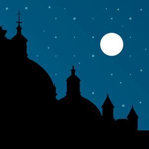 Silhouette Night Scene Cityscape Ill