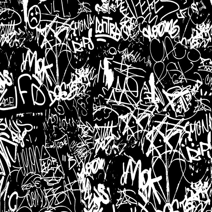 Graffiti Abstract Collage Iron Wall - Photography