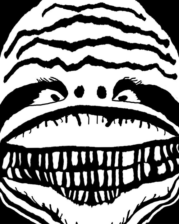 Creepy Monster Black and White Close - Photography