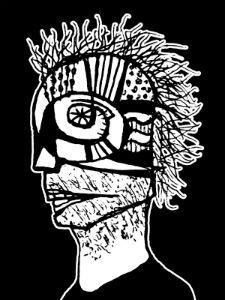 Cyber Punk Portrait Illustration