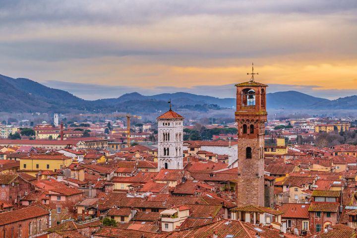 Aerial View Historic Center of Lucca - Photography