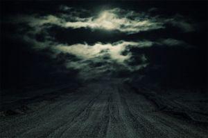 Dark Night Landscape Scene