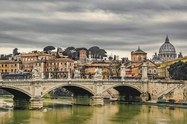 Tiber River Rome Cityscape - Photography