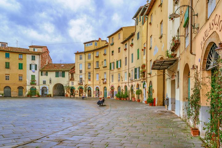 Piazza Anfiteatro, Lucca City, Italy - Photography
