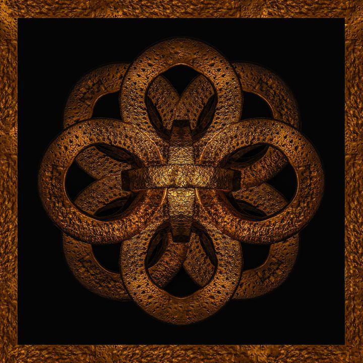Golden Iron Ornate Mystical Symbol A - Photography