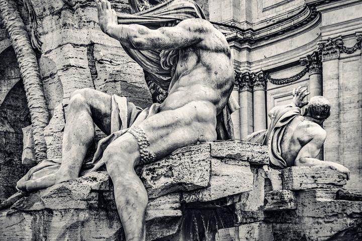 Fontana dei Quattro Fiumi, Piazza Na - Photography