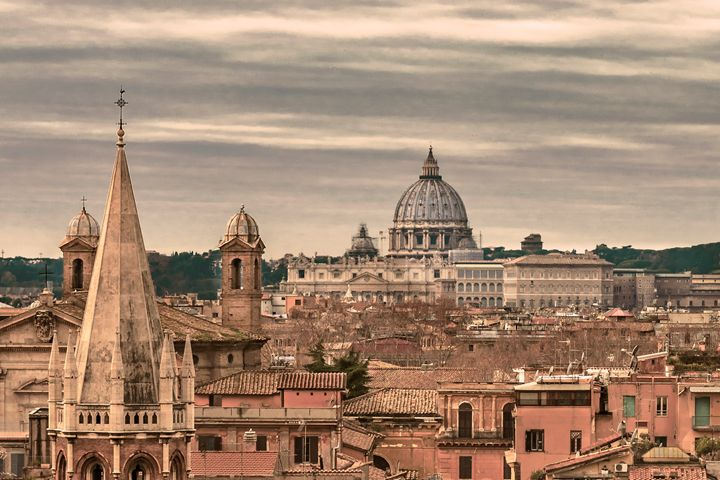 Rome Aerial View From Pincio Viewpoi - Photography
