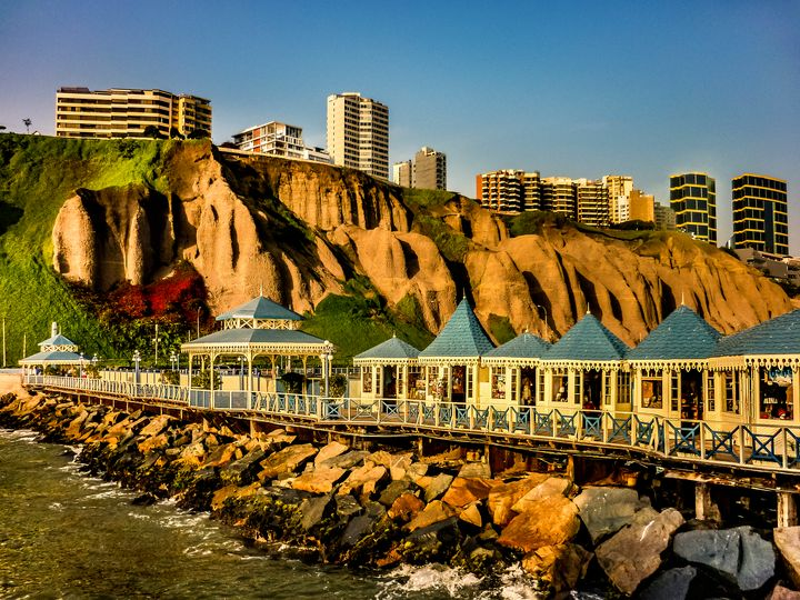 Lima Peru Coastal Scene Photo - Photography