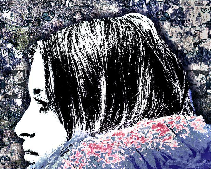 Grunge Graffiti Style Women Poster - Photography