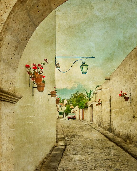 Vintage Grunge Arequipa Street, Peru - Photography