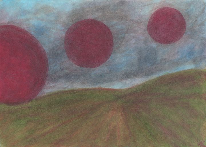 Dust Storm on The Red Moon Planet - Purple Door Arts
