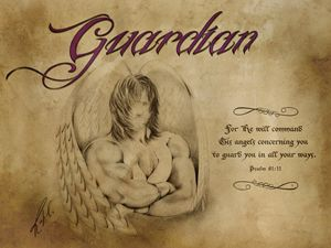 Guardian Antique Image - Angelic Perspectives