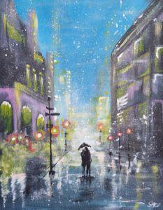 Rainy walk home