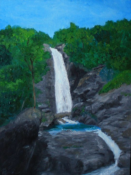 A waterfall (oil painting) 10% off - Nika_art
