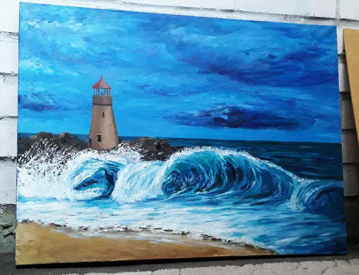 A storm is coming(Lighthouse in usa) - Nika_art