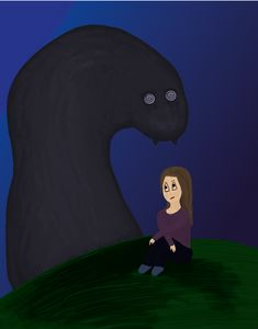 Girl and monster