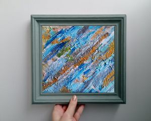 Abstract multicolor mixed painting