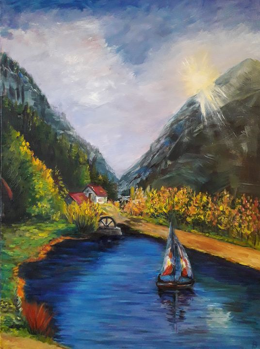 Mountains and lake - Nika_art