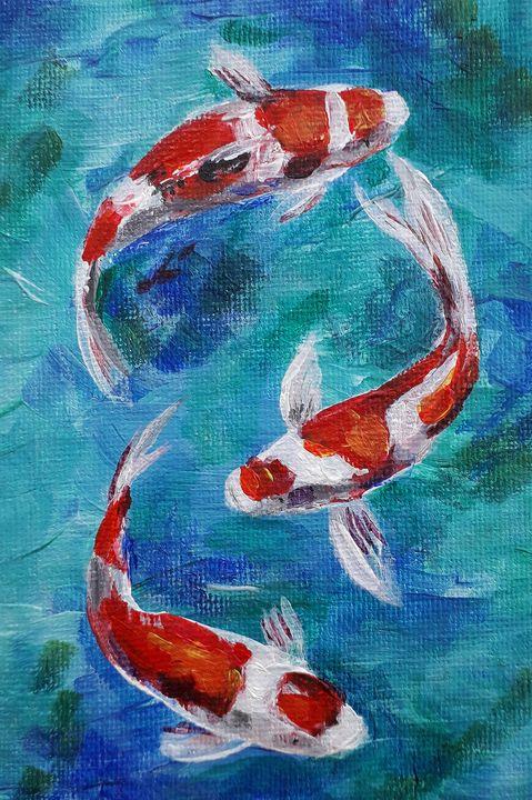 Small acrylic painting - Nika_art
