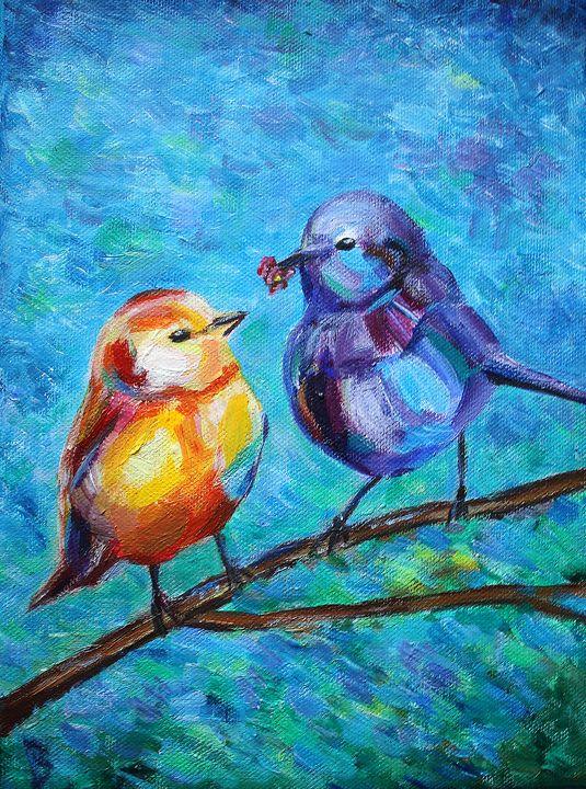 Two Lovely Birds - Nika_art