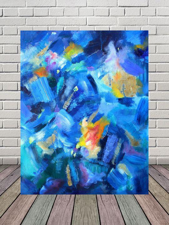 Original abstract acrylic painting - Nika_art
