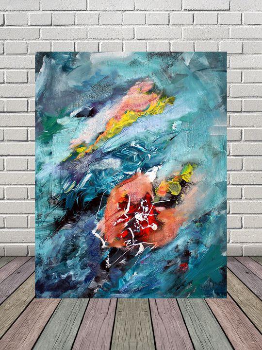 Heartbeat,original abstract painting - Nika_art