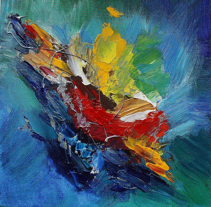 Original acrylic abstract painting - Nika_art