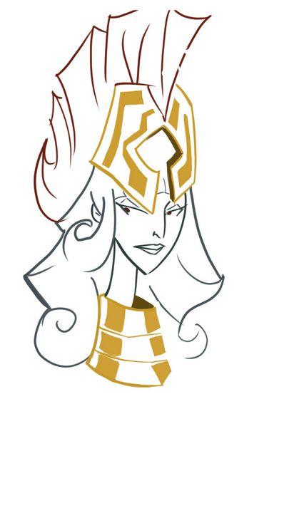 Athena head lineart - Dgdodraw
