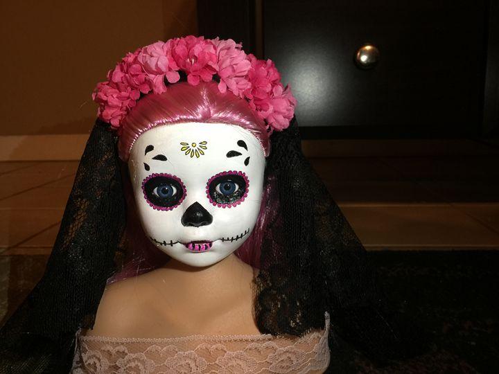 Pink Beauty - Dia De Los Muertos by Lisa