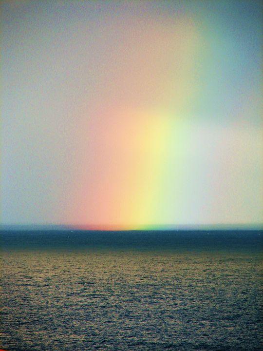 rainbow over the ocean - louie bouwer