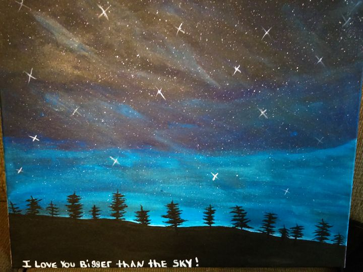 Night sky galaxy - Brooklyns Art