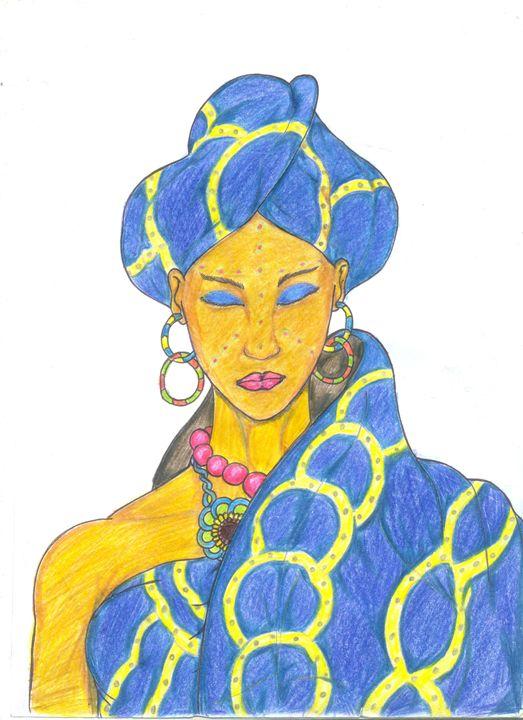 the african bride - almynart