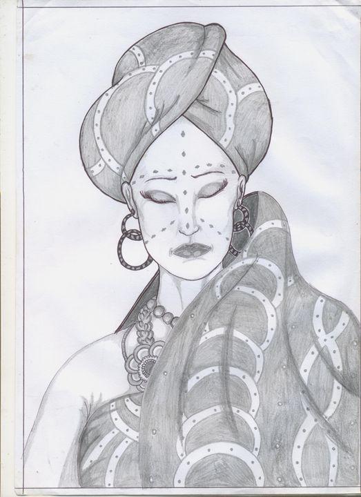 african bride - almynart