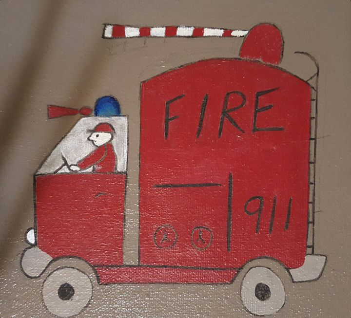 Fire truck - Ambers crafts