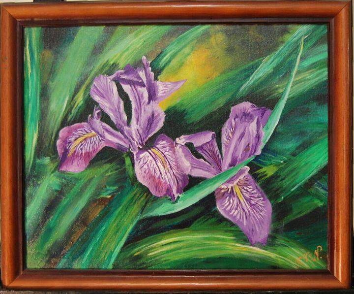 Purple flowerm iris - ArtNikolaeva